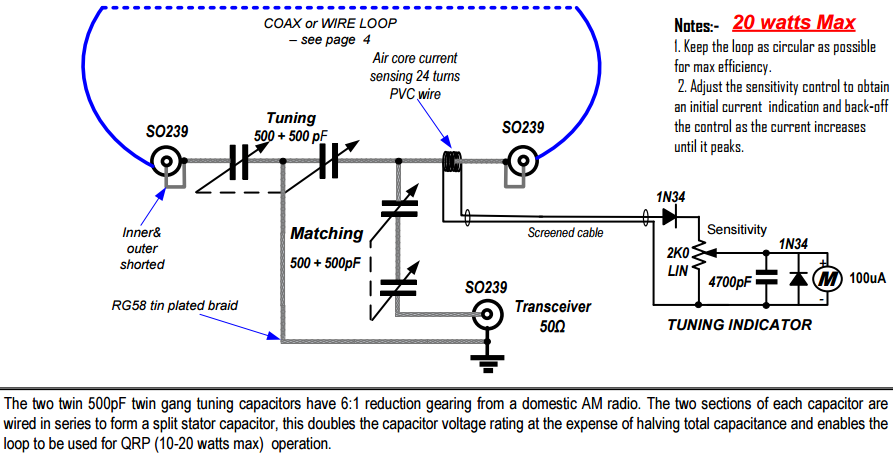 Magic Loop Tuner. The Alternative Capacitor Arrangement Of This Design Is Easier To Implement Than Patterson Employing Two Twin Gang 500500 Pf Variable. Wiring. Long Wire Antenna Tuner Schematic At Scoala.co